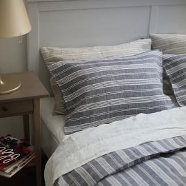 Navy Blue White Pillow Case Jazz