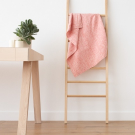 Bath Towel Red Linen Francesca