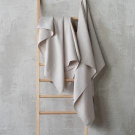Silver Linen Bath Towel Lara