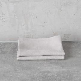 Set of 2 Silver Linen Hand Towels Lara