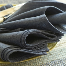 Napkin French Blue Linen Lara