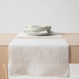 Linen Placemat Off White Rustic