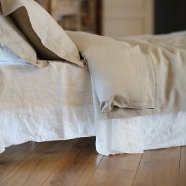 Natural Washed Bed Linen Stone Washed  Flat Sheet