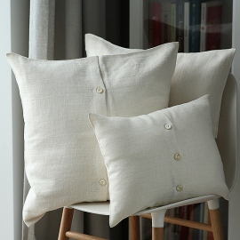 Cream Linen Cushion Cover Lara