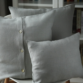 Silver Linen Cushion Cover Lara