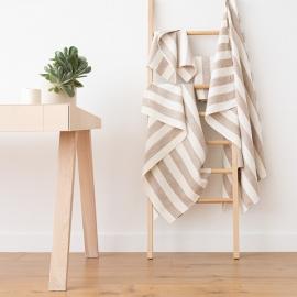 Beige Linen Bath Towels Set Philippe