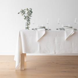 Tablecloth Off White Linen Lara