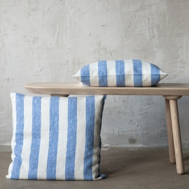 Linen Cushion Cover Off White Blue Philippe