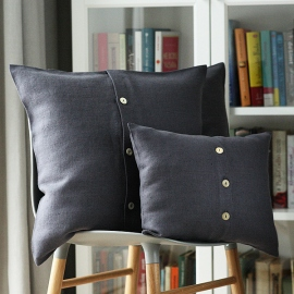 Grey Linen Cushion Cover Lara