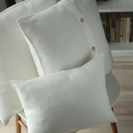 Off White Linen Cushion  Case Lara
