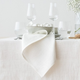 Linen Placemat Off White Lara