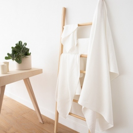 Cream Linen Bath Towels Set Lara