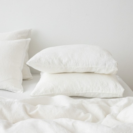 Off White Stone Washed Bed Linen Duvet