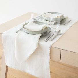 Napkin Off White Linen Rustic
