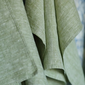 Fabric Green Linen Francesca