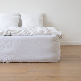 Optical White Washed Bed Linen Fitted Sheet ...