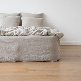 Natural Washed Bed Linen Fitted Sheet ...