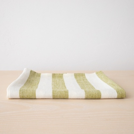 Bath Towel Green Linen Philippe