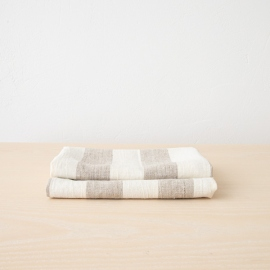 Set of 2 Natural Linen Hand and Guest Towels Philippe