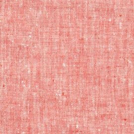 Fabric Red Linen Francesca
