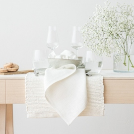 Placemat Off White Linen Lara