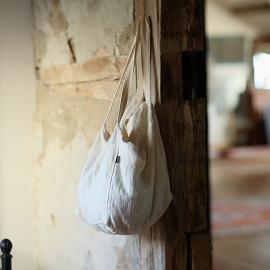 Cream Linen Beach Bag Lara