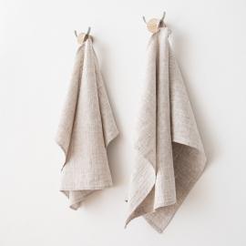 Set of 2 Birch Linen Hand Towels Francesca