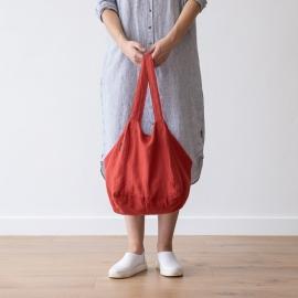 Linen Beach Bag Orange Lara