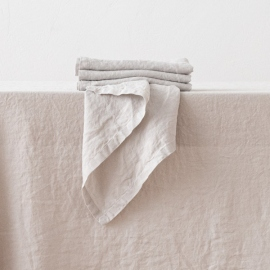 Stone Washed Silver Linen Napkin