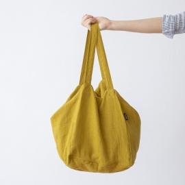 Linen Beach Bag Citrine  Lara