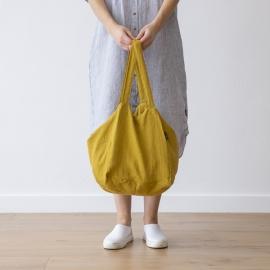 Citrine Linen Beach Bag Lara