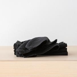 Linen Napkin Black  Terra