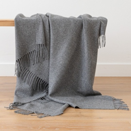 Grey Baby Alpaca Throw Bella