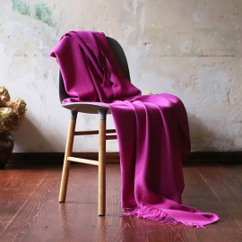 Fuchsia Baby Alpaca Throw Bella