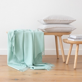 Mint Baby Alpaca Throw Bella