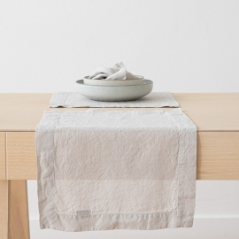 Silver Linen Placemat Stone Washed