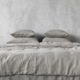 Taupe Stone Washed Bed Linen Duvet