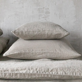 Taupe Stone Washed Bed Linen Pillow Case