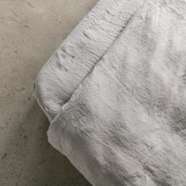 Taupe Stone washed Bed Linen Fitted Sheet