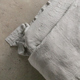 Taupe Stone Washed Bed Linen Flat Sheet