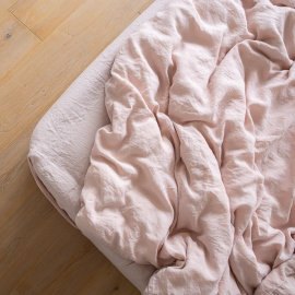 Rosa Stone Washed Bed Linen Fitted Sheet