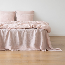 Rosa Stone Washed Bed Linen Flat Sheet