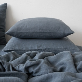 Blue Stone Washed Bed Linen Pillow Case