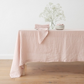 Rosa Linen Tablecloth Stone Washed ...