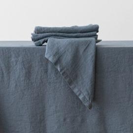 Stone Washed Blue Linen Napkin
