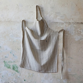 Set of 2 Natural Linen Tea Towels Brittany Medium