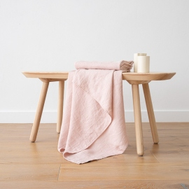 Rosa Linen Waffle Bath Towel Washed