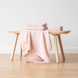Set of 4 Rosa Linen Wash Cloths Waffle
