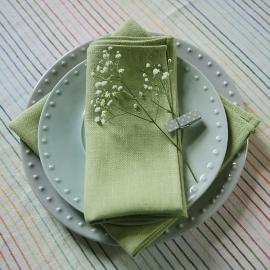 Rainbow Multicolour Linen Tablecloth Natural
