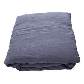 Blueberry Washed Bed Linen Duvet